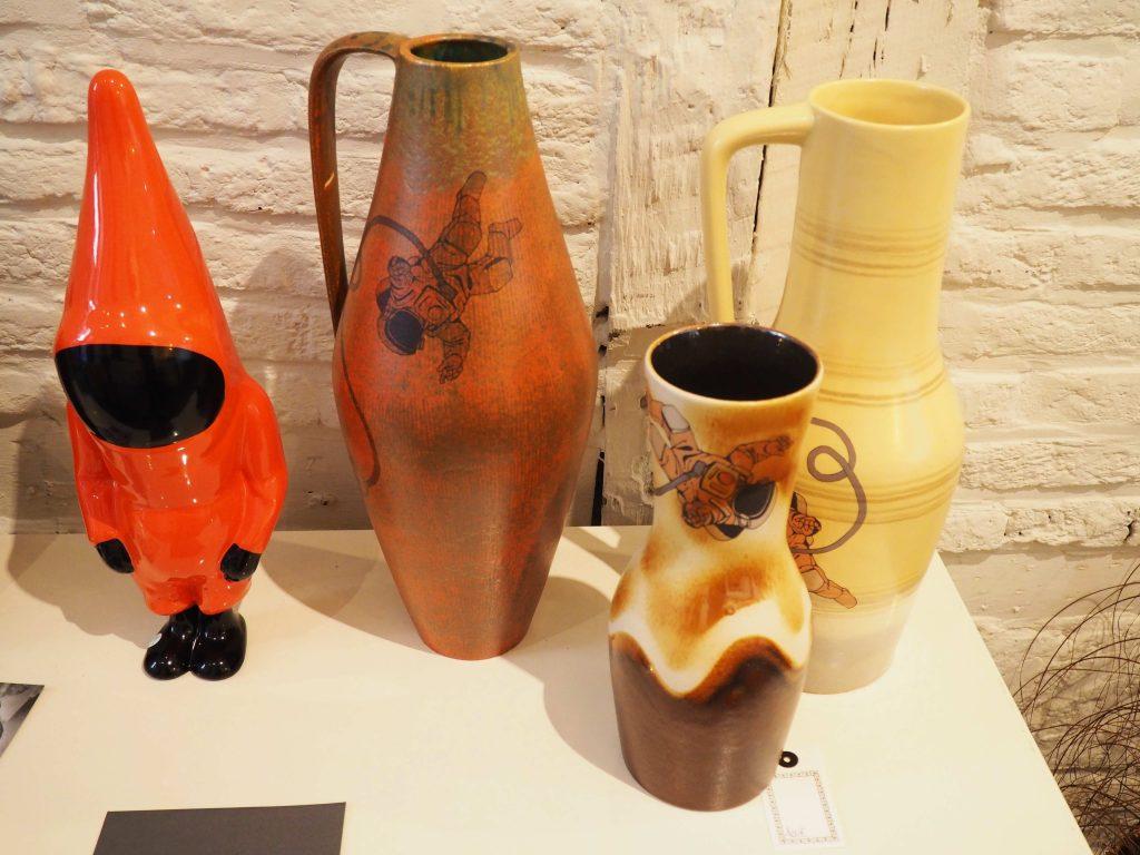YAWA Astro-vases | décors de transfert sur céramique WEST GERMANY